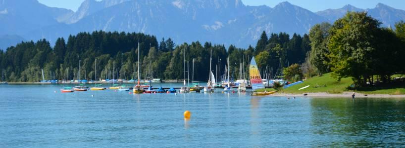 Fernwanderwege-Etappen nach Füssen: Forggensee-Etappe