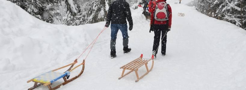 In den kalten Wintermonaten zur Drehhütte wandern