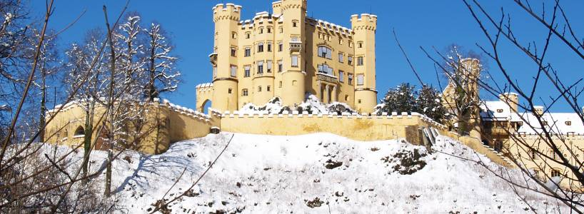 Das Schloss Hohenschwangau im Winter