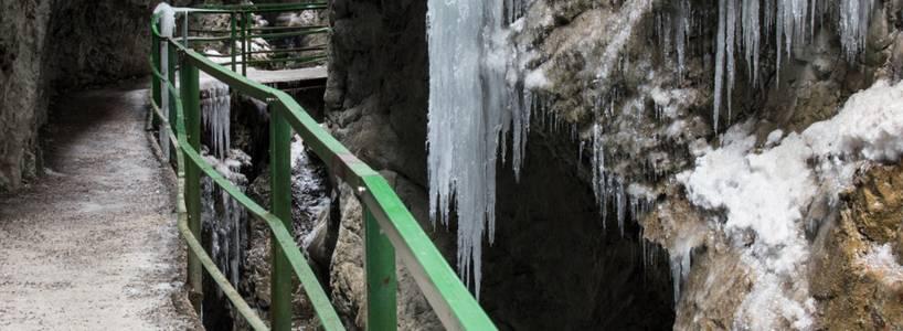 Die beeindruckende Breitachklamm im Winter