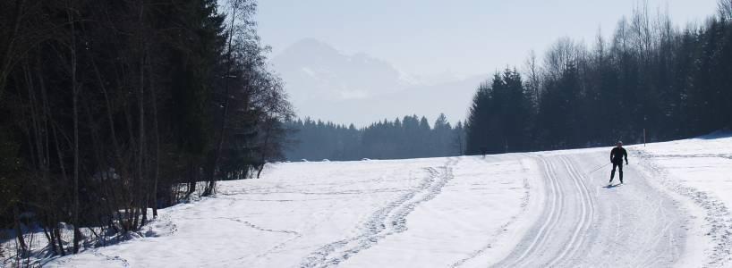 Skilanglauf - Venetianerwinkel eine schöne Loipe für Anfänger in Füssen