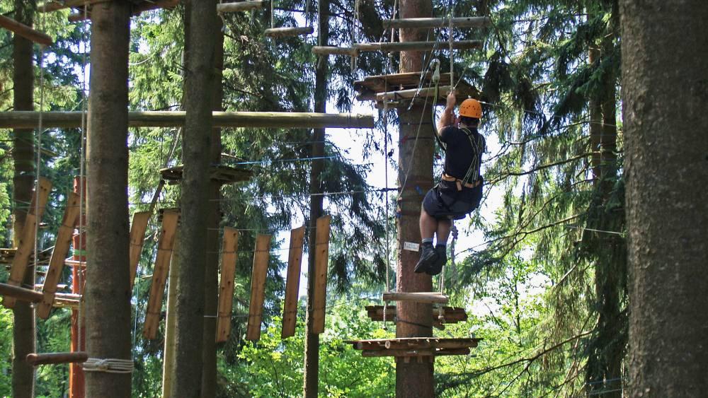 Der Kletterwald am Grüntensee